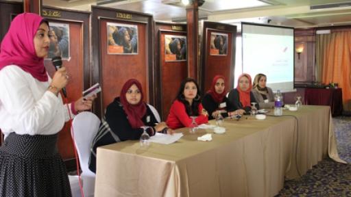 Ägyptische Kolleginnen beim jb-Seminar (Rechte: Sigrun Rottmann)