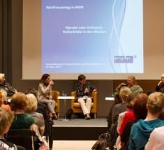 Weltfrauentag beim MDR;Wandel oder Stillstand - Rollenbilder in den Medien; Veranstaltung am 10.03.2014 in der 13. Etage der MDR-Sendezentrale in Leipzig