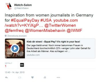 WatchSalon-Tweet an internationale feministische community
