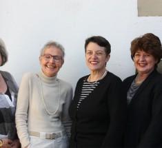 Alte und neue Vorstandsfrauen / Marlies Hesse beim Kickoff zu 30 Jahre jb am 16.1.2016 in Frankfurt (Foto: Jasmin Andresh)