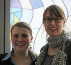 Rebecca Beerheide und Svenja Markert / Kickoff zu 30 Jahre jb am 16.1.2016 in Frankfurt (Foto: Jasmin Andresh)