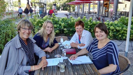 Magdalena Kemper, Katrin Lechler, Hilde Weeg und Anna Toelke (von links nach rechts)