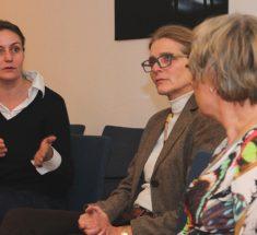 Gesprächsrunde mit Christine Gräbe, Margit Schlesinger-Stoll und Rosemarie Mieder (Foto: Corinna Klingler)