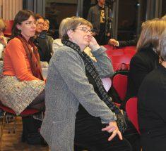 Während der Keynote beim Medienlabor (Foto: Corinna Klingler)