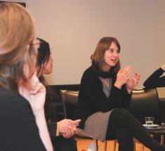 Gesprächsrunde beim Medienlabor, in der Mitte Svenja Markert (Foto: Corinna Klingler)