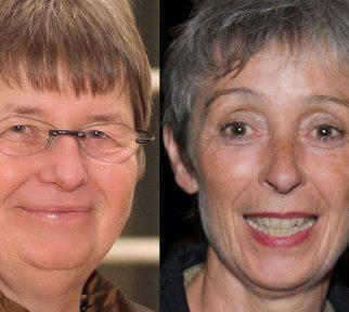 Doppelportrait Sybille Plogstedt (links) und Helga Kirchner (rechts)