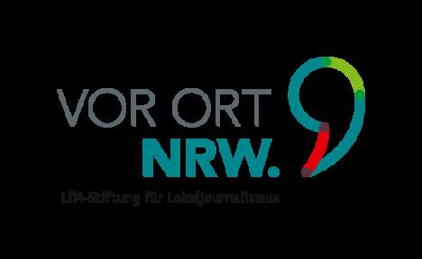 Logo der Stiftung für Lokaljournalismus VOR ORT NRW