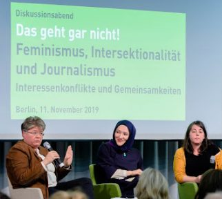 3 Frauen auf dem jb-Panel beim Diskutieren