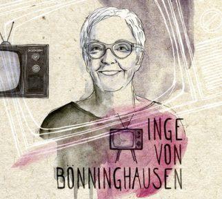 Kolorierte Zeichnung von Helene Traxler: Inge von Bönninghausen